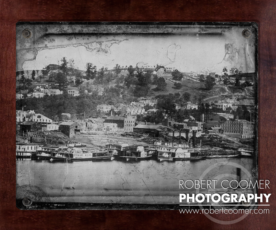 1848 Cincinnati Art Photo on Distressed Steel